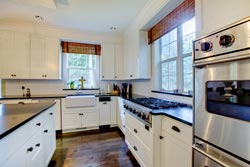 black granite white cabinets Granite kitchen - Cincinnati Ohio GS Marble Ohio